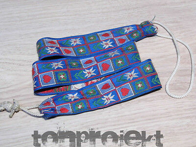 beautiful age Textile strap for PLUCKED INSTRUMENTS Mandolin etc Folk 1950`