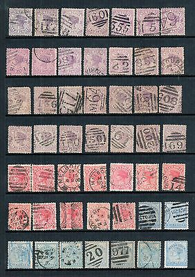 Victoria - 49 x VIC Stamp Duty Selection, Numeral Cancels, Fine Used