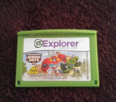 leapster explorer game, transformers rescue bots