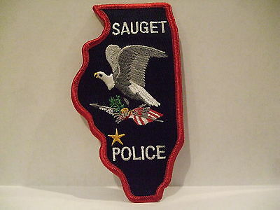 police patch   SAUGET POLICE ILLINOIS