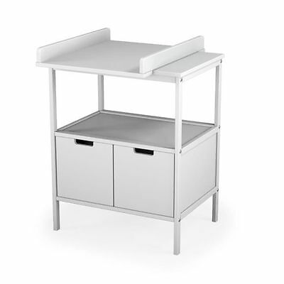 AT4 - Table a langer 1 étagere, 2 portes, plan a langer amovible - M304 NEUF