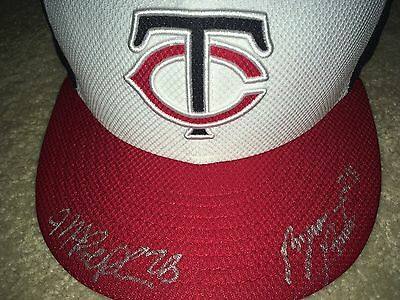 Signed Minnesota Twins Hat Cap Byron Buxton Max Kepler AUTO New Era Fitted NEW