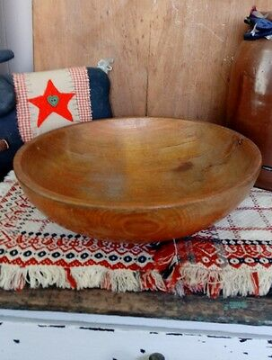 Early Antique Primitive Wood Dough Bowl AAFA Farmhouse Country Kitchen