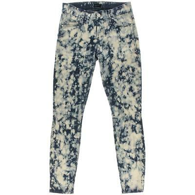 Mother 1585 Womens The Looker Blue Acid Wash Low Rise Skinny Ankle Jeans 24 BHFO