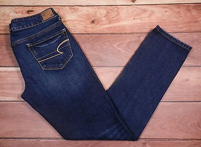 American Eagle Outfitters Skinny Jeans Size 6 Womens Blue Denim Mid Rise