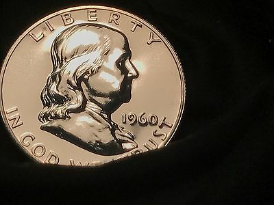 1960   Franklin   Proof   90%   Silver  Actual Coin  Pictured Free Shipping