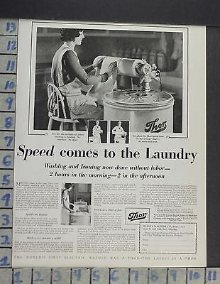 1929 Home Decor Laundry Room Thor Electric Washer Iron Hurley Vintage Ad Cp2