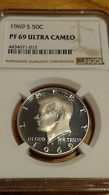 1969 S Proof Kennedy Silver PF69 Ultra Cameo Half Dollar