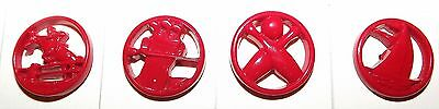 Vintage Goofie Sporting Set of 4 Buttons  #G9