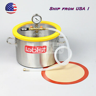 VC30S20 3.7Gal Stainless Steel Vacuum Chamber for Resin Silicone Degassing