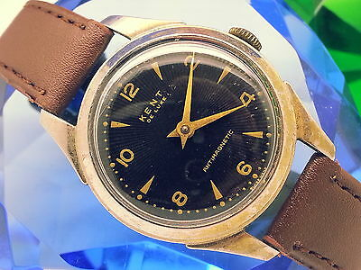 (5-Day-Fast-Auctions) 1960 Kent Deluxe (Estate Sale Is Let Go)Vintage Mens Watch