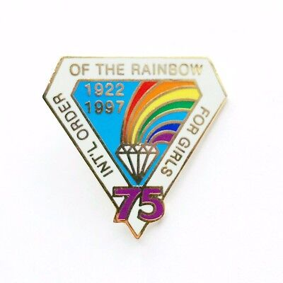 International Order of the Rainbow for Girls Enamel Pin 1997 Collectible 75 Year