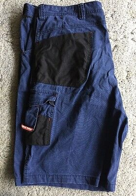 Hard Yakka Men's Shorts Pocket Bags Ruler and Cargo pockets Navy Blue