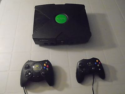 Microsoft Original Xbox Console With 2 Controllers & 7 Games NTSC