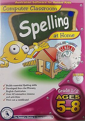 kids educational pc computer game spelling 5 to 8 yrs
