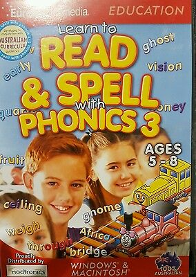 kids educational spelling and reading pc computer game 5 to 8 yrs
