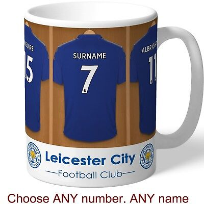 PERSONALISED Leicester Mug. Shirt Name. Gift For LEICESTER CITY Fan, Supporter