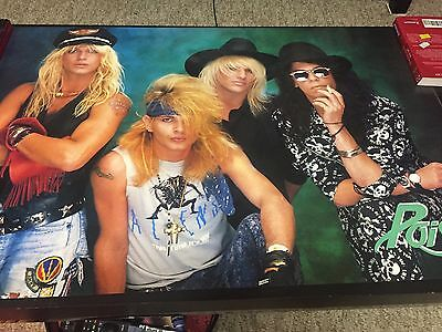 VINTAGE POISON 1988 POSTER/ STILL SEALED 80'S Rock/Hair band
