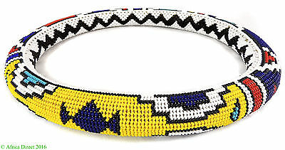 Ndebele Beaded Collar Ring Necklace South Africa 12 Inch