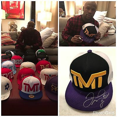 Floyd Mayweather TMT Signed Official Cap Hat Photo Proof Exclusive Signing