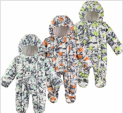 Snow Proof Infant Baby Snowsuit Winter Ski Snow Suit Unisex Boys/Girls