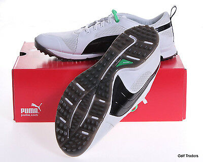 New! Puma Biofly Mesh Mens Spikeless Golf Shoes Size 9Us White/black #d1185