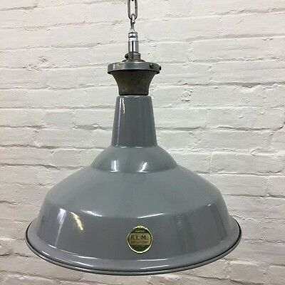 Industrial Vintage Benjamin Lamp RLM Crysteel Green Enamel Factory Light Shade