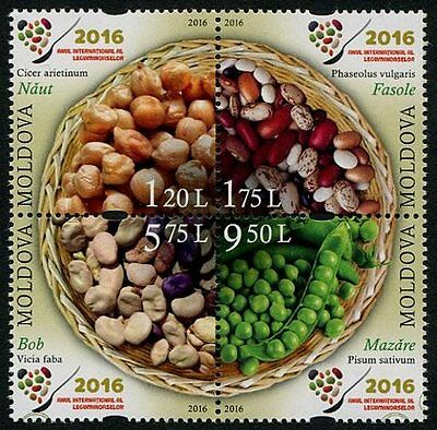 Moldova 2016 International Year of Pulse Crops Block of 4 Different MD88 MNH**