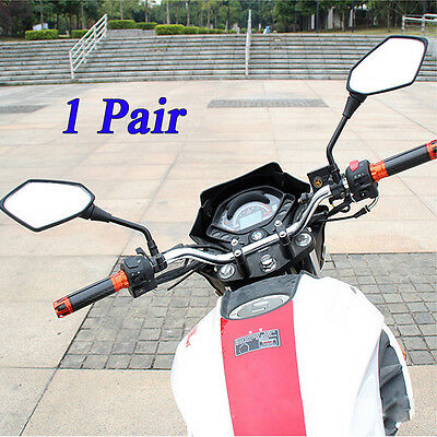 2x Universal Motorcycle Mirrors Accessories Scooter Parts Moto Rearview Mirrors