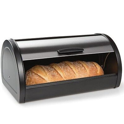 Roll Top Bread Bin Stainless Steel Box Storage Kitchen Container Breadbox Retro