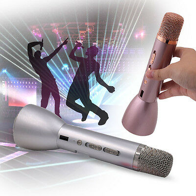 Portable Karaoke Wireless Bluetooth Speaker Handheld Microphone USB Rechargeable
