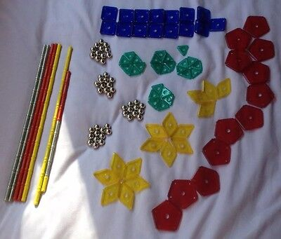 Geomag assorted coloured rods, balls and various shapes