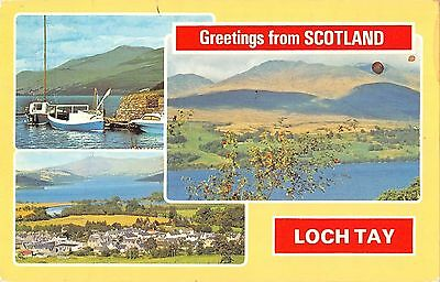 B101009 greetings from scotland loch tay   scotland 14x9cm
