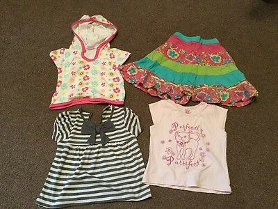 4 Items Baby Girls Clothing Size 12 To 18 Months