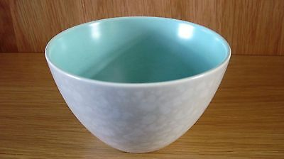 Poole Pottery Twintone icegreen and seagull large open sugar bowl