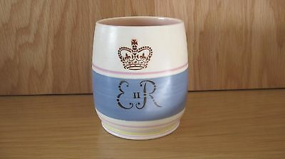 Poole Pottery 1953 Coronation Beaker in good condition