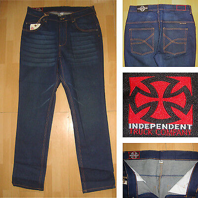 INDEPENDENT - Hit Stopper 333-86.4cm taille - Skateboard Jeans - Indigo Jeans