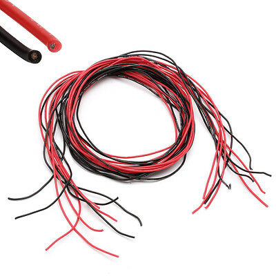 New 5M 24 Gauge AWG Silicone Wire Wiring Flexible Stranded Copper Cables For RC