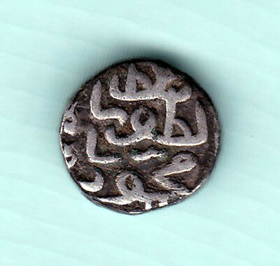 Gujarat Sultanate India 500 Years Old Extremely RARE Silver Half Tanka Coin C88