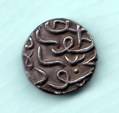 Gujarat Sultanate India 500 Years Old Extremely RARE Silver Half Tanka Coin C89