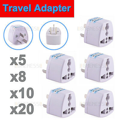5/8/10/20 UNIVERSAL UK USA EU to AU AC Power Plug Adapter Travel Converter Au