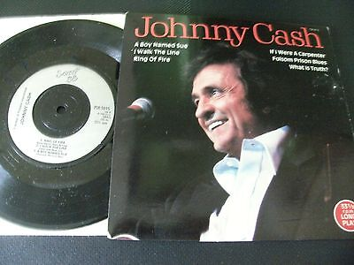 Johnny Cash 6 Track E.p.a Boy Named Sue/ring Of Fire Etc.1983Scoop+Picture Cover