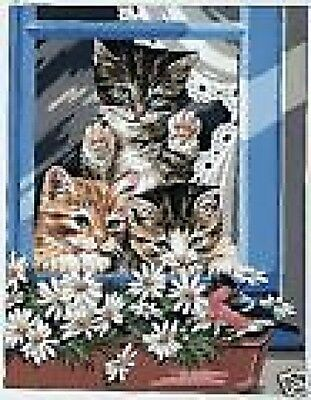 The Little Riffraffs Cats Tapestry Needlepoint Canvas Royal Paris