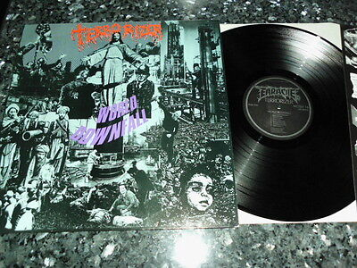 TERRORIZER - World Downfall LP Earache 1989 1st Press OIS ;Carcass,Death;Carnage
