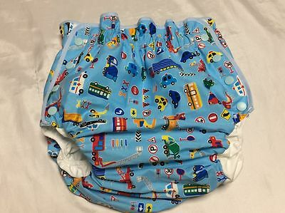 Adult baby diaper Diapers covers car pattern snap style new