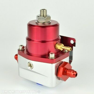 AN4 (JIC -4) Fuel Pressure Regulator Red With 4AN Fittings 7 Bar 1:1