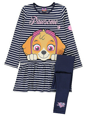 George Girls Official Paw Patrol Skye Tunic Dress & Leggings Outfit Set