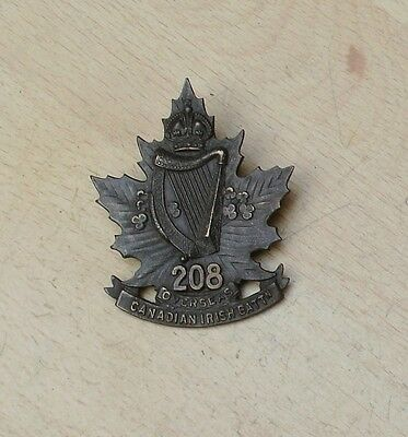 208th Overseas battalion of Canada Irish cap badge