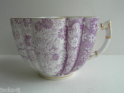Nice Antique Wileman Pre Shelley Purple Jungle ? Daisy Shape Cup Pattern 6170