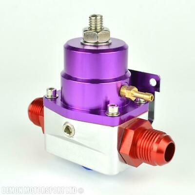 AN10 (JIC -10) Fuel Pressure Regulator Purple With 10AN Fittings 7 Bar 1:1